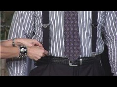 Men's Fashion : How to Put on Clip Suspenders