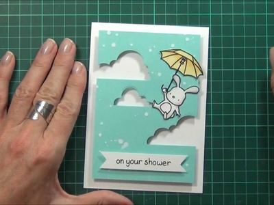Partial Die Cutting technique   Baby Shower Card!