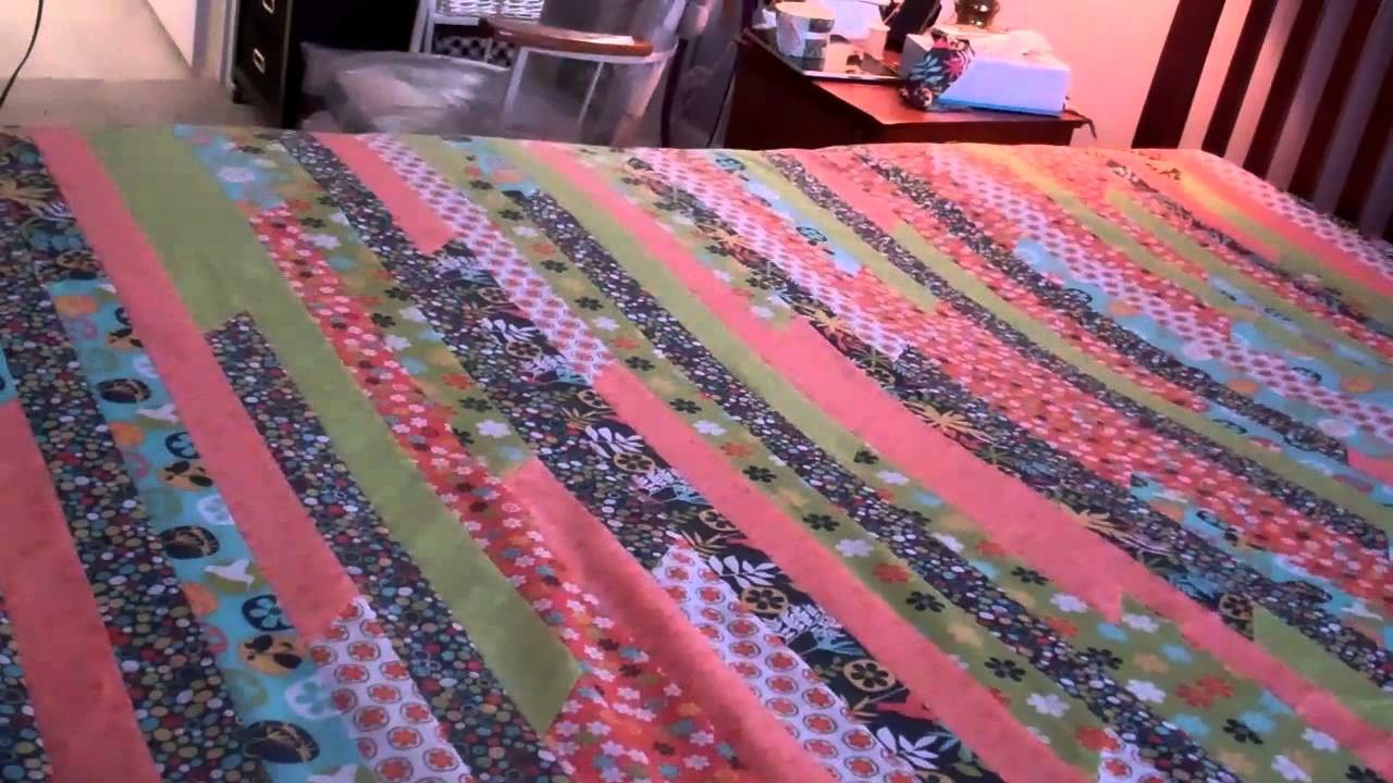 Queen King Jelly Roll Quilt Part 5 Finishing the top