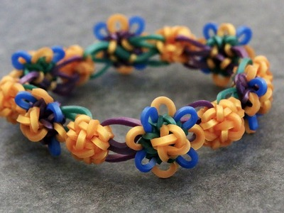Rainbow Loom™ MonsterTail™ Celtic Knot Charm Bracelet Tutorial