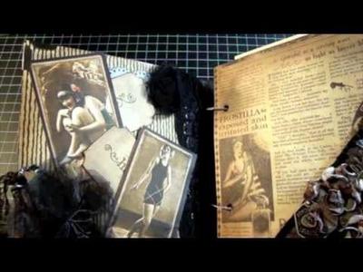 Shabby Chic Vintage Mini Album for Kim DSC Swap Jan