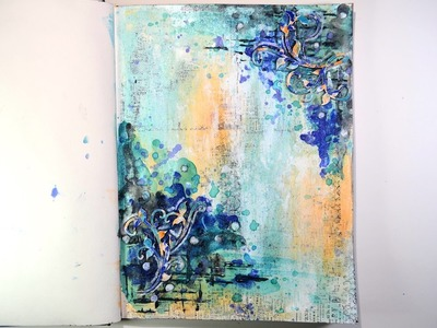★Shimmerz Mixed Media Art Journal Tutorial★