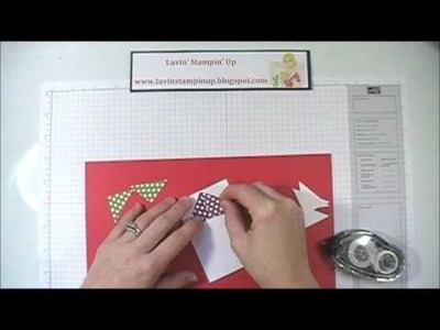 Stampin Up Card Tutorial Flying Geese Quilt Card