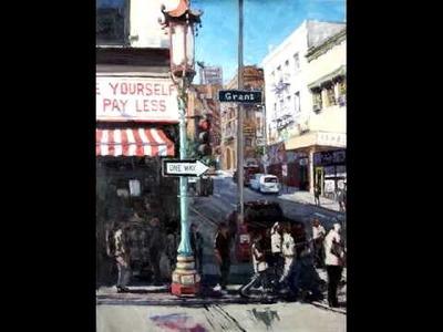 Street scene oil painting lesson