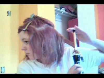 Sweet Lolita Short Hair tutorial (Porcelin Doll Curls)