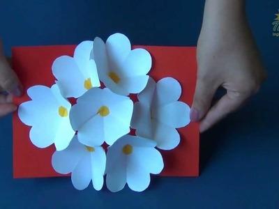 THE HOUSE PIRACICABA - 3D Flower Pop Up Card