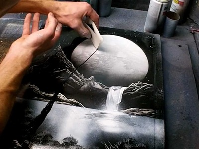 Tutorial - Black and White Nature Spacepainting