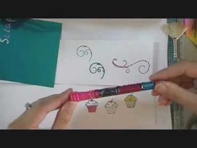 Using TonerTex Products--Glitter, Foils & Glue Pen