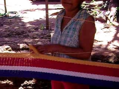 Woman making a hammock in El Hormigón, Masaya