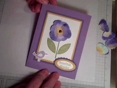 Butterfly Punch Pansy by Stampin with Z-Grandma Karen