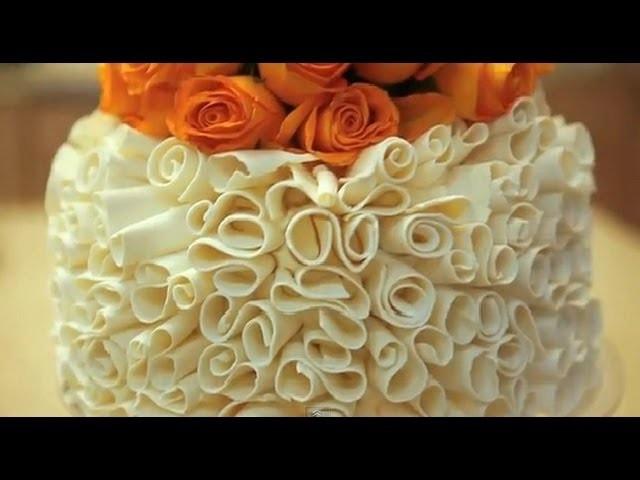 Cake Decorating Tips - White Chocolate Curls