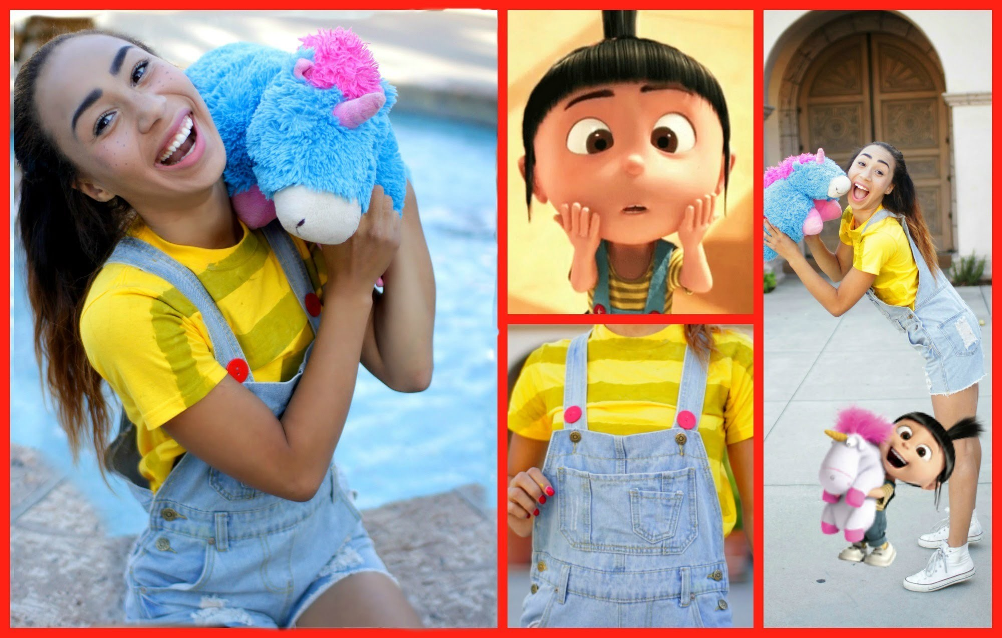 D.IY Agnes -Despicable Me Halloween Hair, Makeup, Costume!