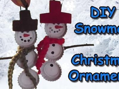Easy Snowman Christmas Ornament Tutorial