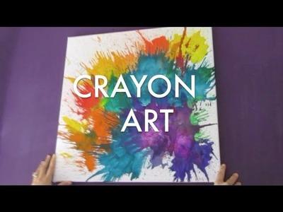 FUN CRAYON MELTING ART TUTORIAL!!!