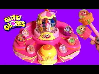 Glitzi Globes Mega Dome Maker Showcase Carousel Display Playset ❤ How-To Make 4 Glitter Globes!