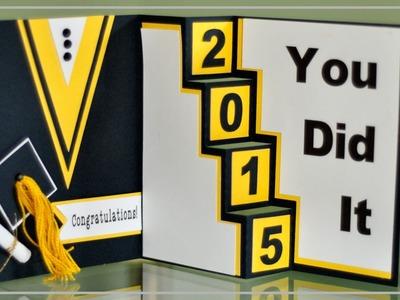 Graduation Card with Cricut Explore