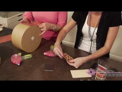 Graphic 45 Hat Boxes Part 1 - With Tim Holtz Embellishing