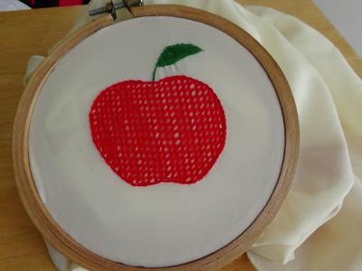 Hand Embroidery: Net Stitch
