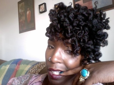 How To: A Flexirod  Updo Hairstyle on Natural Hair Demo