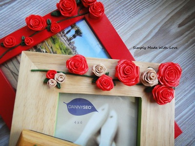 How to decorate photo frames with modeling caly- tutorial- gift idea