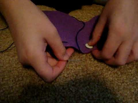 How to do sewing stiches and sew on a button