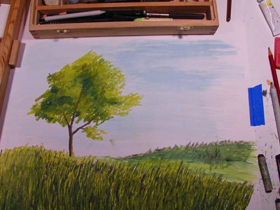 How to Draw a Tree in Oil Pastel
