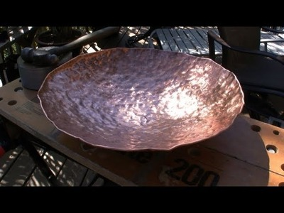 How to Make a Copper Bowl, Hammering with Rob