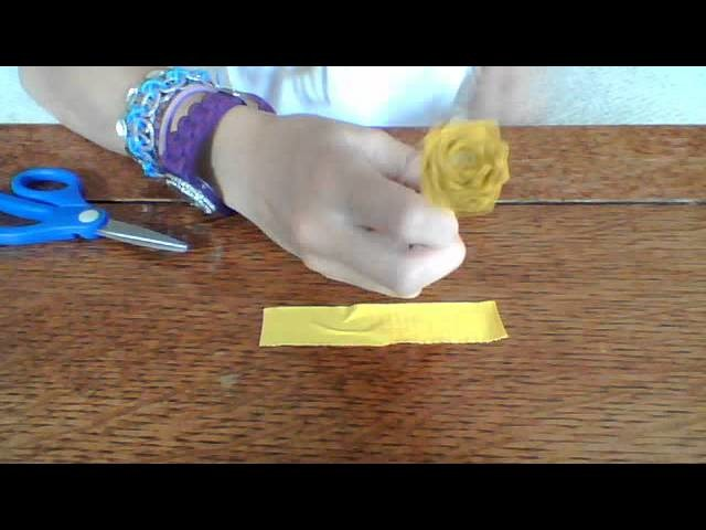 How to make a duct tape daisy