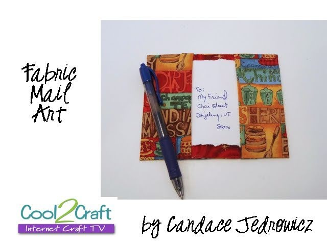 How to Make a Reusable Fabric Mail Art Postcard by Candace Jedrowicz