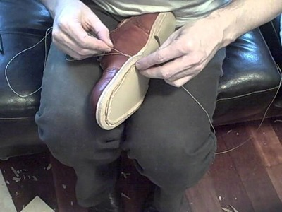How to make a shoe by hand, Part 10b: Sewing the outsole