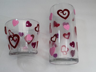 How to make a Valentine vase and candleholder