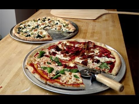 How to make Homemade Pizza From Scratch - Recipe by Laura Vitale - Laura in the Kitchen Ep. 86