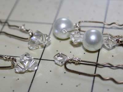 How to make Pearl or Crystal Bobby Pins appropriate for a wedding and beach themed (Tutorial)
