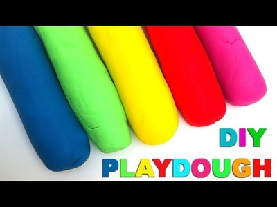 How to Make Playdough at home Play Doh No cooking by Lababymusica