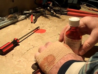 How to open a bottle of cough syrup