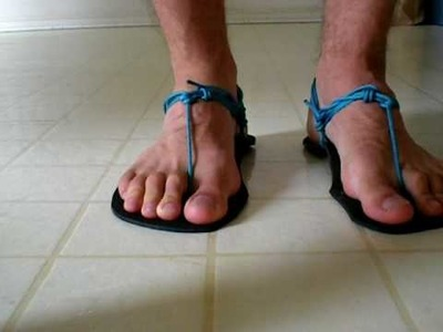 How to Tie Huarache Sandals