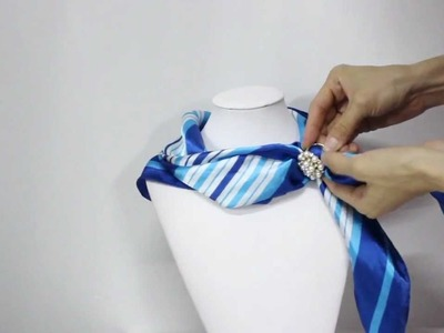 How to wear a scarf ring with pearl Rose Scarf Ring