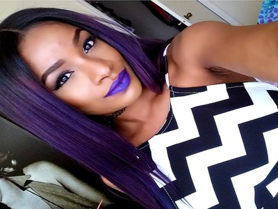 Justine Skye Purple Hair Color Tutorial
