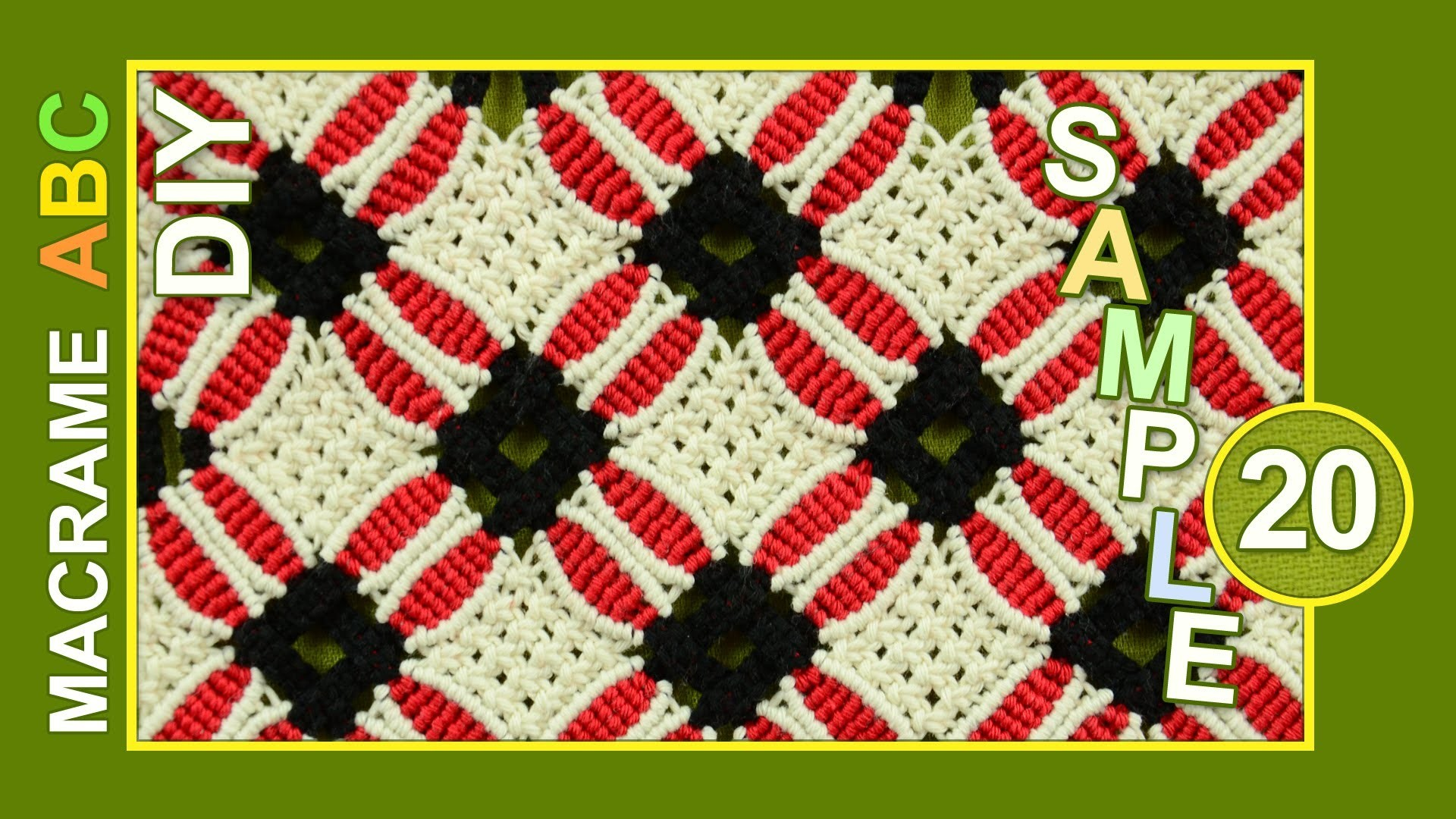 Macrame ABC - pattern sample #20