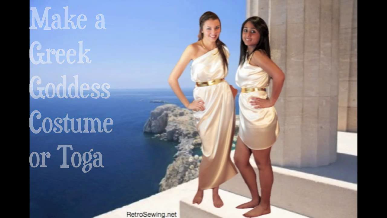 Make Greek Goddess Costume or Toga
