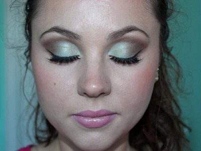 Mint & Brown Homecoming Makeup Tutorial ♡
