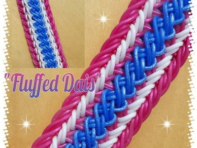 "New ""Fluffed Dais"" Rainbow Loom Bracelet. How To Tutorial"