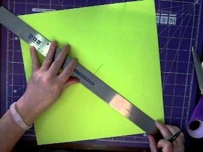 Paper Box Demonstration Episode #1 Make boxes from regular cardstock!!