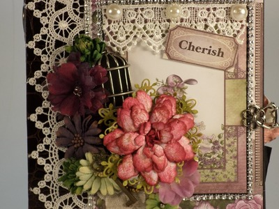 PART 2  TUTORIAL HEARTFELT CREATIONS RAINDROPS ON ROSES MINI ALBUM - DESIGNS BY SHELLIE