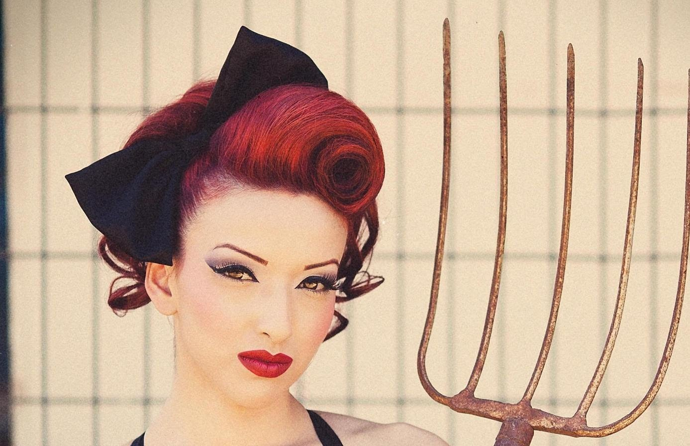 Pinup Swirl Vintage Inspired Hairstyle