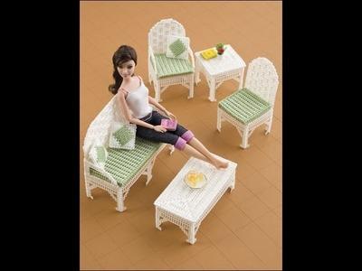 Plastic Canvas doll furniture patterns