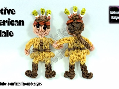 Rainbow Loom (Thanksgiving) Native American (Indian) Male Action Figure.Charm