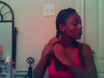 Sacajawea Braid Out (wavy hair)
