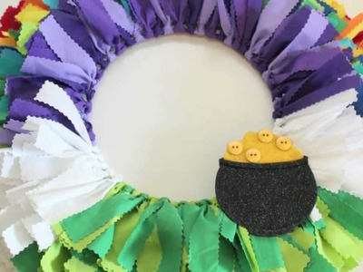 St. Patrick's Day Fabric Scrap Wreath
