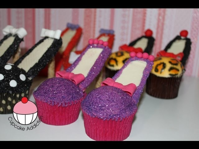 Stiletto Cupcakes! Decorate High Heel Shoe Cupcakes - A Cupcake Addiction How To Tutorial